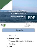 Introduction to Enterprise Architecture Dbanger 160217