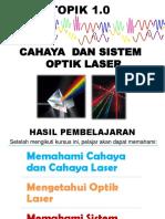 TOPIK 1 Cahaya & Sistem Optik Laser