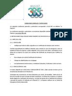 A365 - Condiciones Generales y Particulares