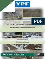 Estudio ambiental del Parque Eólico Manantiales Behr - Provincia del Chubut