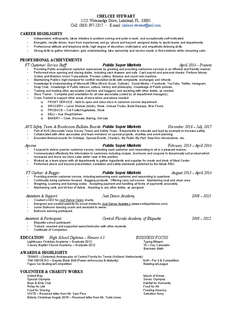 c stewart 2017 resume | Foods | Business