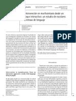 La intervención en morfosintaxis desde un enfoque interactivo