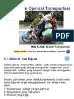 Sistem Operasi Transportasi