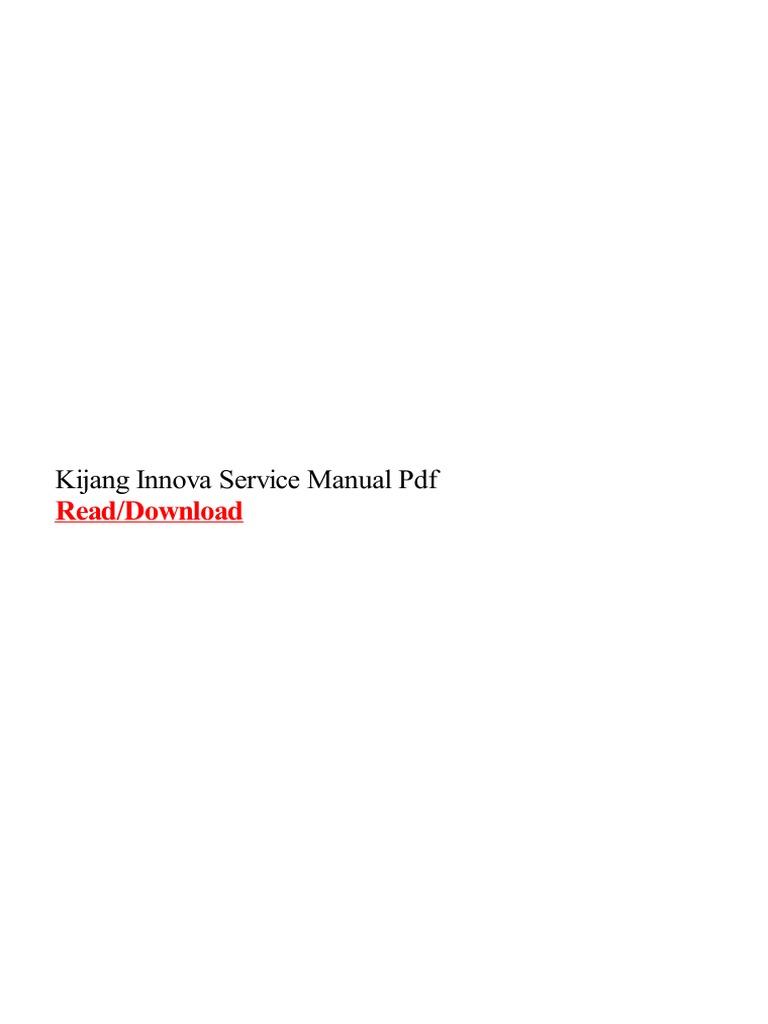kijang innova service manual pdf rh scribd com kijang innova service manual pdf 2004 Kijang Innova