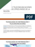 SIstema de Telecomunicaciones en SNT Paises Vecinos Robalino