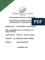 PLANEAMIENTO ESTRATEGICO-DESARROLLO DE LA ACTIVIDAD N°14 – CASO PRACTICO
