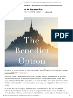 The Benedict Option as Preparation