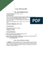 LB-303 Company Law ContentsLL