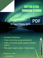 ruptur uteri