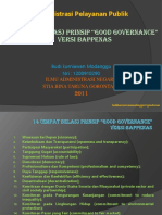 14 Good Governance Versi Bappenas