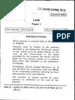 IAS Mains Law 2010