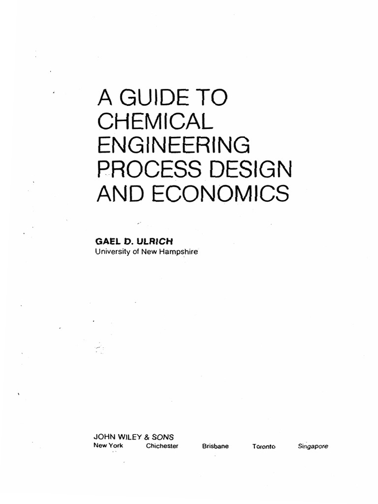 Ulrich_A Guide to Chemical Engineering Process Design and Economics |  Distillation | Gases