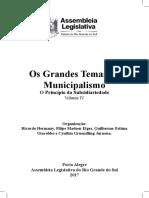 Grandes Temas Do Municipalismo - Princípio Da Subsidiariedade