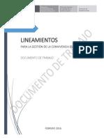 0 Lineamientos de Convivencia Escolar - Documento de Trabajo
