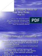 Lecture 4 Calculating Stripping Ratios for Area Strip Mines