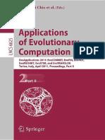 Applications of Evolutionary Computation, Part II