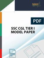 Ssc Cgl Tier i Model Paper