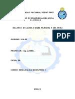 BALANCE DE AGUA A NIVEL MUNDIAL Y DEL PERU.doc