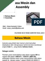 5 Bahasa Mesin Dan Bahasa Assembly