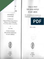 LUCCHESI, Enzo -- L'Usage de Philon Dans l'Oeuvre Exegetique de Saint Ambroise, Leiden, 1977, 140