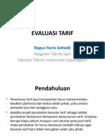 Evaluasi Tarif