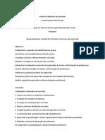 Programa Organização, gestão do currículo e processos de supervisão_mestrado administração escolarMAE