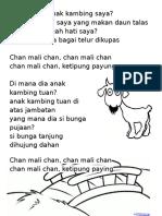 Nota Lagu Chan