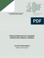 Tutela Jurisdiccional de La Igualdad Efectiva Entre Mujeres y Hombres (Derecho Español)