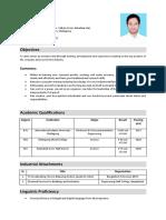 Resume of Shakibul Azam