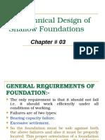 Geo-technical Design of Shallow Foundation