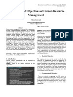 Detail Study of Objectives of Human Resource Management