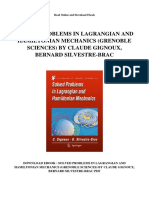 Solved Problems in Lagrangian and Hamiltonian Mechanics Grenoble Sciences by Claude Gignoux Bernard Silvestre Brac