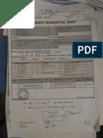 Document Transmittal Sheet-Siemens