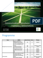 Communication - Structure de Rapports - Tableaux - Presentations