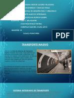 Transporte Masivo y Transporte Integrado
