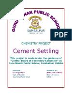 Cement Settling