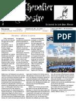 Le chevalier pédestre - Le journal du lycée Jean Monnet (Mortagne au Perche) - Numéro 3 - Mai 2014