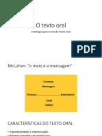 O Texto Oral