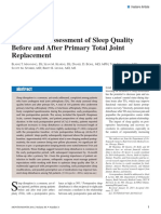 Prospective Assessment of Sleep Quality Before and After Primary Total Joint Replacement