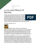 Gil Press Big Data History