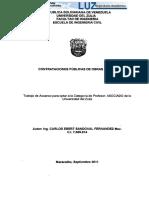 Contrataciones Publicas de Obras Civiles