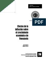 Efectos de La Inflaciòn Sobre El Crecimiento Econòmico en Venezuela
