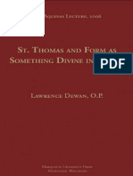 Dewan - 2007 - Saint Thomas and form as something divine in things.pdf