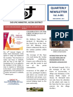 SVD GHANA  ACCRA DISTRICT JPIC NEWSLETTER