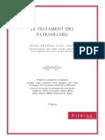 Testament Des Douze Patriarches