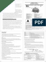 J-22U English Manual