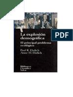 Ehrlich Paul R Y Ehrlich Anne H - La Explosion Demografica