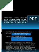 Ley Municipal Para El Estado de Oaxaca
