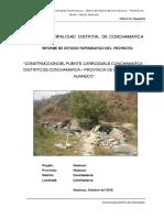 Informe de Estudio Topografico Del Proyecto