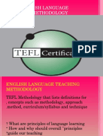 TEFL=English Language Teaching Methodology